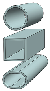 Various shapes of FRP